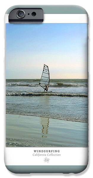 Wind Surfing Art iPhone Cases - Windsurfing Art Poster - California Collection iPhone Case by Ben and Raisa Gertsberg