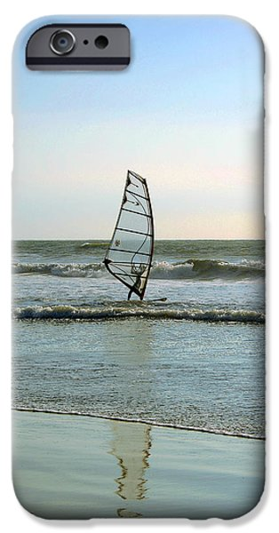 Windsurfer iPhone Cases - Windsurfing iPhone Case by Ben and Raisa Gertsberg