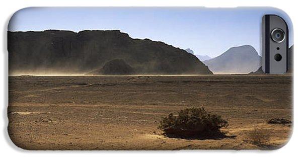 Jordan iPhone Cases - Windswept Desert, Wadi Rum, Jordan iPhone Case by Panoramic Images