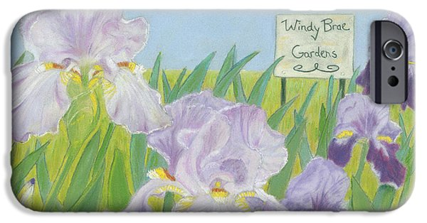 Botanical Pastels iPhone Cases - Windy Brae Gardens iPhone Case by Arlene Crafton