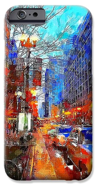 Windy City iPhone Cases - Windy City iPhone Case by Chris Butler