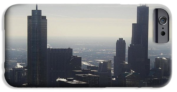 Willis Tower iPhone Cases - Windy City Skyline iPhone Case by Snapshot  Studio