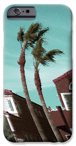 Windy Day By The Ocean  iPhone Case by Ben and Raisa Gertsberg