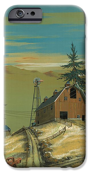 Windy iPhone Cases - Windy Knoll iPhone Case by John Wyckoff