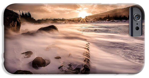 Wintertime iPhone Cases - Windy Morning iPhone Case by Steven Reed