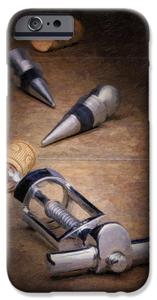 Stopper iPhone Cases - Wine Accessory Still Life iPhone Case by Tom Mc Nemar