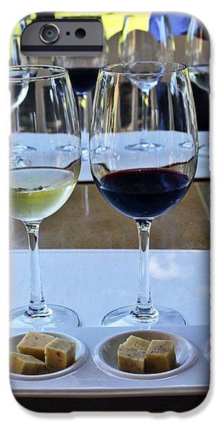 Wine and Cheese Tasting iPhone Case by Kurt Van Wagner