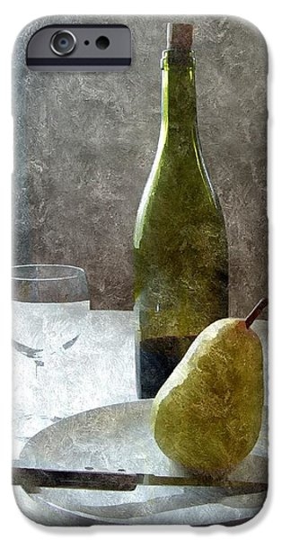 Table Wine iPhone Cases - Wine and Pear iPhone Case by Karyn Robinson