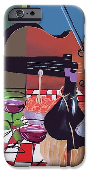 Best Sellers -  - Table Wine iPhone Cases - Wine And Roses iPhone Case by Anthony Falbo
