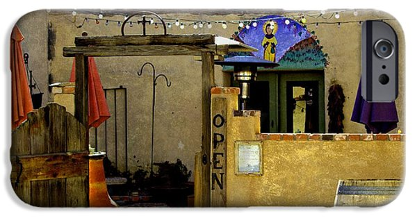 Table Wine iPhone Cases - Wine Bar New Mexico iPhone Case by Barbara Chichester