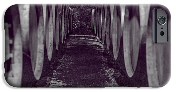 Vintage Wine Lovers iPhone Cases - Wine Barrel Alley iPhone Case by Nomad Art And  Design
