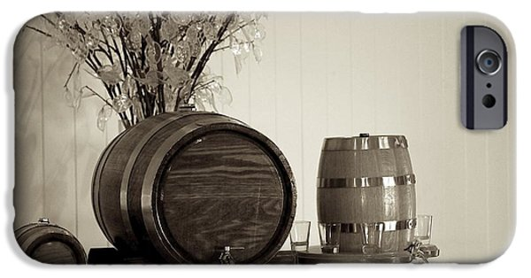 Wine Service Photographs iPhone Cases - Wine Barrels iPhone Case by Alanna DPhoto