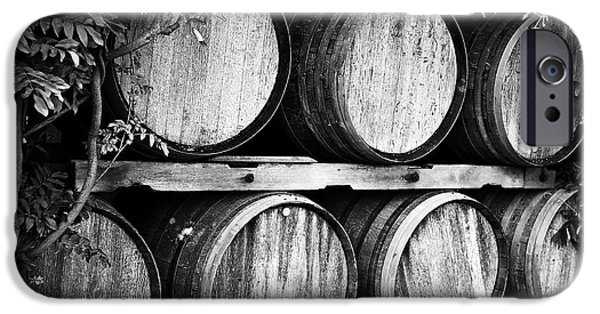 Ice Wine iPhone Cases - Wine Barrels iPhone Case by Scott Pellegrin