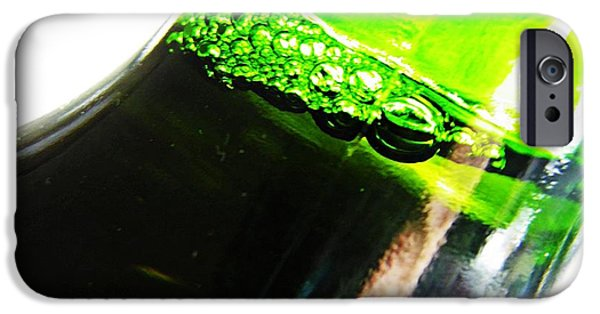 Business iPhone Cases - Wine Bottle iPhone Case by Sarah Loft