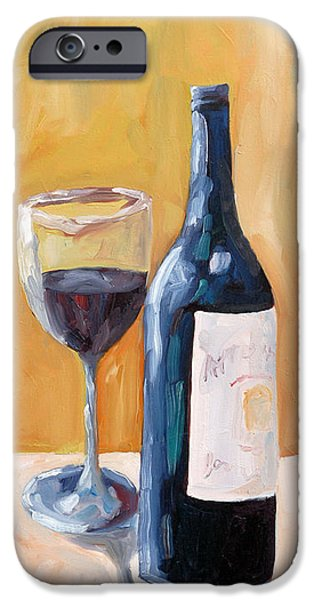 Wine Canvas Paintings iPhone Cases - Wine Bottle Still Life iPhone Case by Todd Bandy