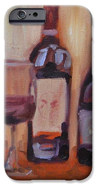 Wine Bottle Trio iPhone Case by Donna Tuten