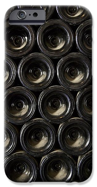 Wine Bottles iPhone Cases - Wine Bottles iPhone Case by Cheryl Gayser