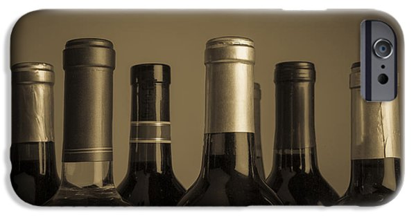 Wine Bottles iPhone Cases - Wine Bottles iPhone Case by Diane Diederich