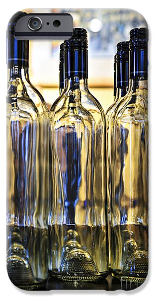 Wine Bottles Photographs iPhone Cases - Wine bottles iPhone Case by Elena Elisseeva