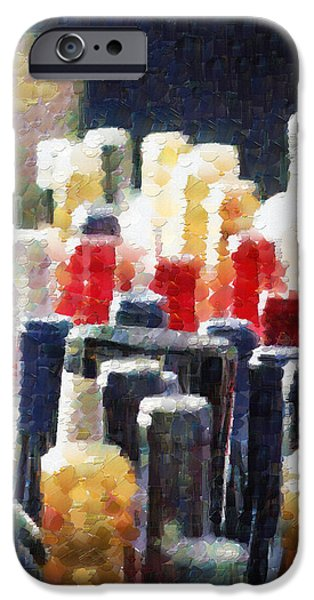 Wine bottles painting iPhone Case by Magomed Magomedagaev