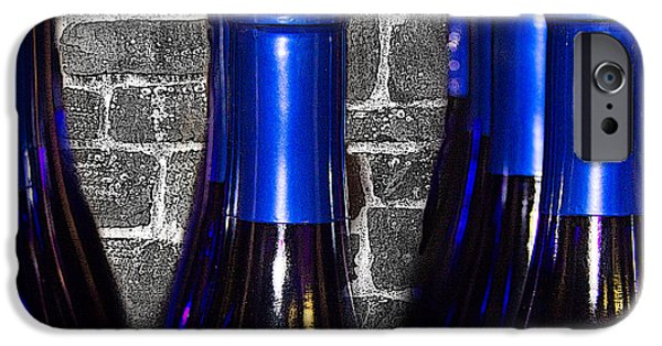 Winetasting iPhone Cases - Wine Bottles iPhone Case by Tom Gari Gallery-Three-Photography