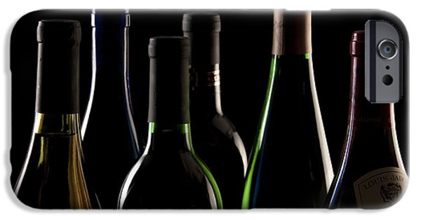Wine Bottles iPhone Cases - Wine Bottles iPhone Case by Tom Mc Nemar