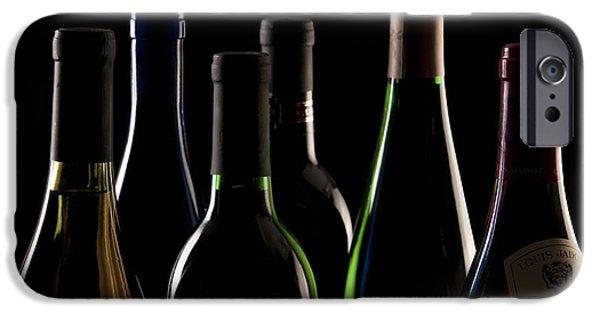 Vino Photographs iPhone Cases - Wine Bottles iPhone Case by Tom Mc Nemar