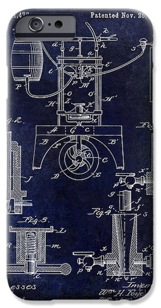 Patent Drawing iPhone Cases - 1890 Wine Bottling Machine  iPhone Case by Jon Neidert