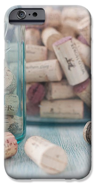 Wine Cork Collection iPhone Case by Kay Pickens