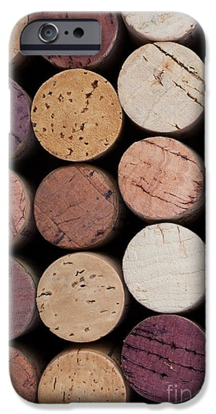 Stopper iPhone Cases - Wine corks 1 iPhone Case by Jane Rix