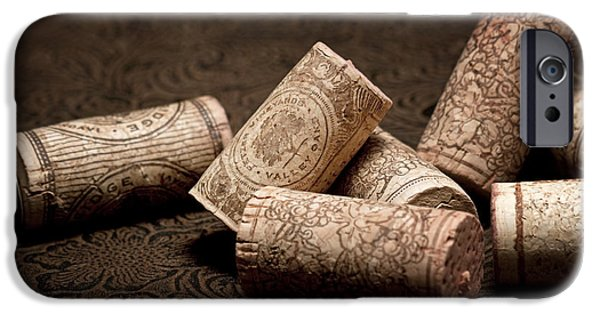 Stopper iPhone Cases - Wine Corks Still Life III iPhone Case by Tom Mc Nemar