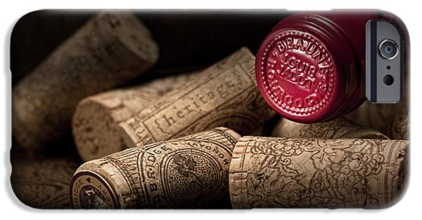 Bottled iPhone Cases - Wine Corks Still Life IV iPhone Case by Tom Mc Nemar