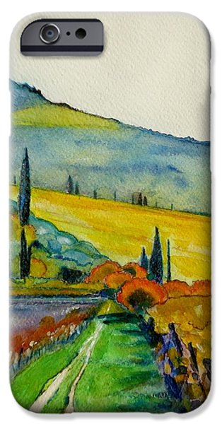 Autumn iPhone Cases - Wine country iPhone Case by Alberta Boato