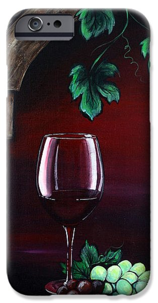 Wine Bottles iPhone Cases - Red Wine Sunset iPhone Case by Danise Abbott