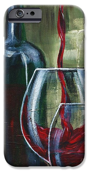 Malbec iPhone Cases - Wine for two iPhone Case by Lisa Owen-Lynch