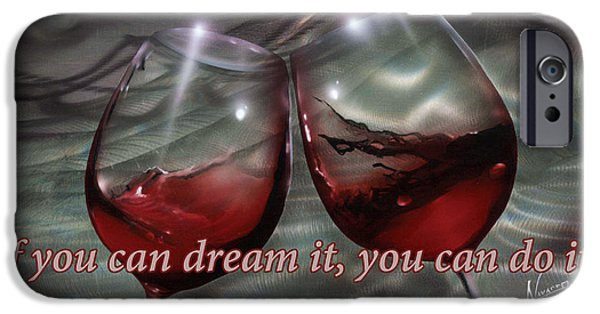 Advice iPhone Cases - Wine Glass Text iPhone Case by Luis  Navarro