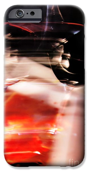 Wine Bottles iPhone Cases - Abstract Still Life- Wine Glasses iPhone Case by Feryal Faye Berber
