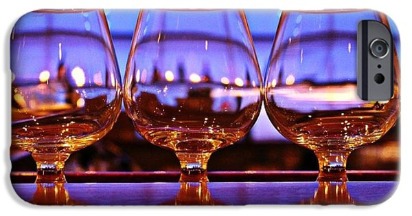 Food And Beverage Glass Art iPhone Cases - Wine Glasses iPhone Case by Stephanie Leidolph