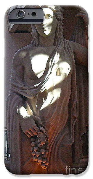 Food And Beverage Sculptures iPhone Cases - Wine Goddess iPhone Case by Brad Gravelle