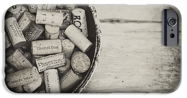 Vintage Wine Lovers Photographs iPhone Cases - Wine Lovers Collection iPhone Case by Heather Applegate