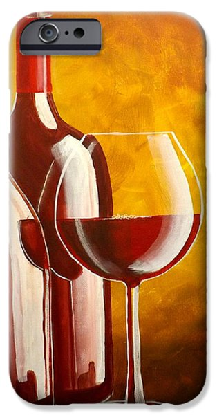 Red Wine iPhone Cases - Wine Not iPhone Case by Darren Robinson