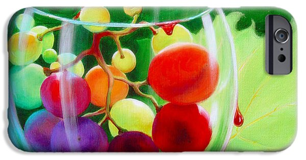 Wine Pour iPhone Cases - Wine on the Vine III iPhone Case by Sandi Whetzel