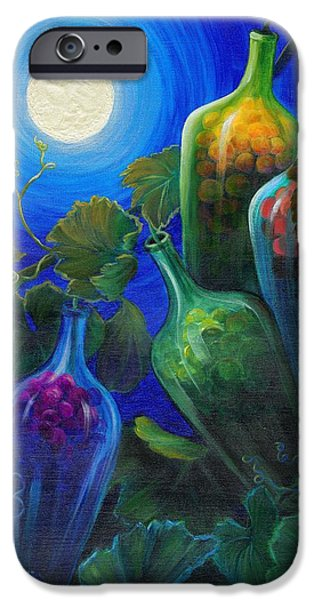 Windblown Paintings iPhone Cases - Wine on the Vine iPhone Case by Sandi Whetzel