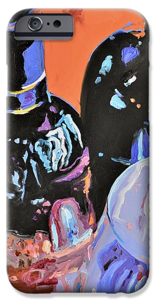 Table Wine iPhone Cases - Wine Party iPhone Case by Donna Tuten