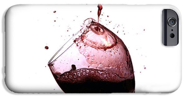 Wine Pour iPhone Cases - Wine pour iPhone Case by Michael Ledray