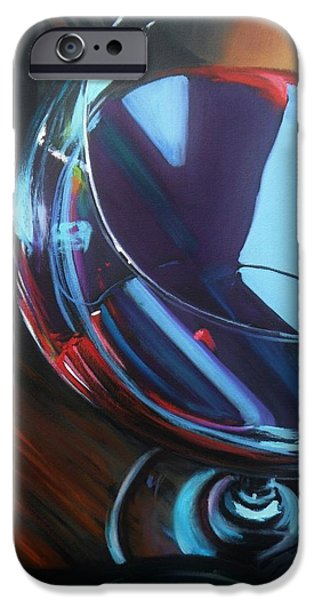 Wine Reflection Art iPhone Cases - Wine Reflections iPhone Case by Donna Tuten