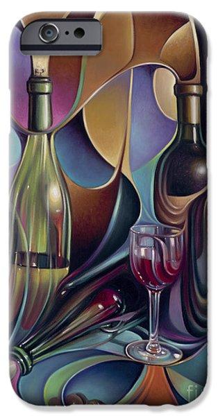 Wine Bottles iPhone Cases - Wine Spirits iPhone Case by Ricardo Chavez-Mendez