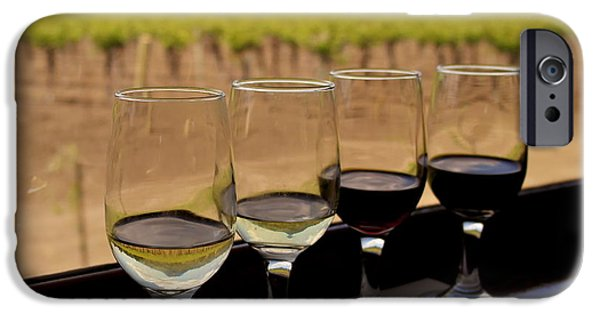 Wine Sipping iPhone Cases - Wine Train Tasting iPhone Case by Michele Myers