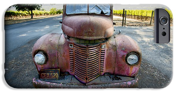 Old Truck iPhone Cases - Wine Truck iPhone Case by Jon Neidert