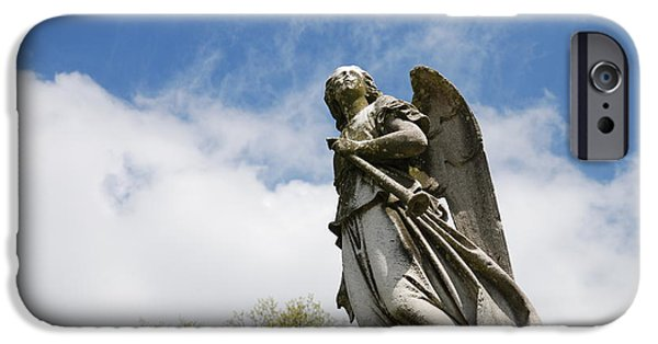 Seraphim Angel iPhone Cases - Winged Angel iPhone Case by Jennifer Lyon